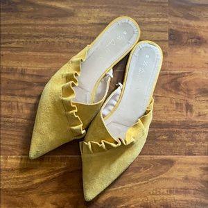 Zara Yellow Mules